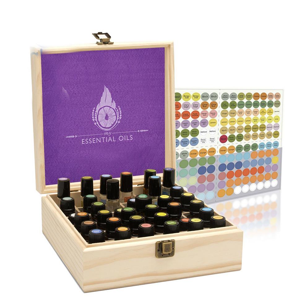 Custom high quality simple usefulwood bamboo essential oil box