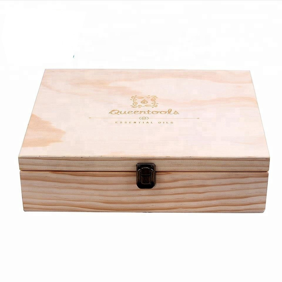 Superior and exquisite Essential Oil Wood Organizer Wooden Packing Storage Box