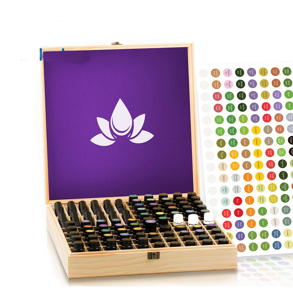 Hot sale Custom unfinished packaging wooden box for essential oils