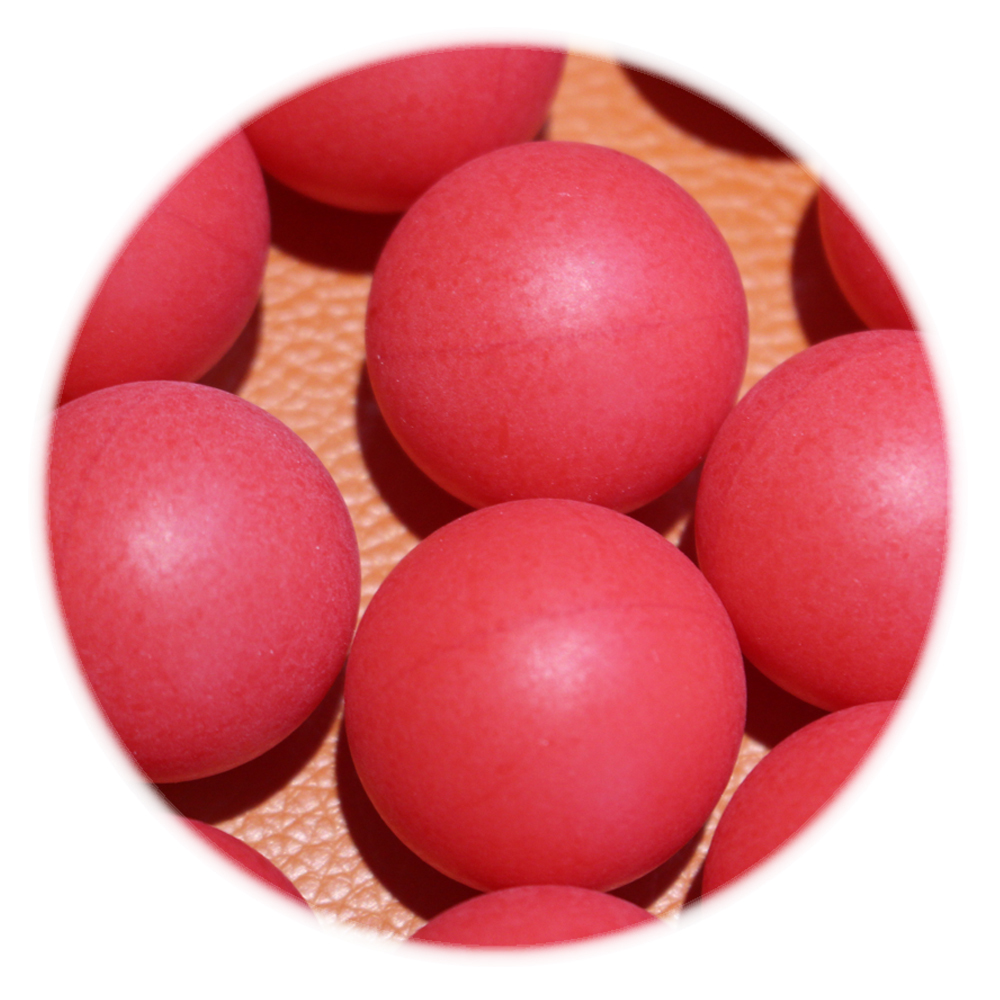 3 foot 30 inch 3.175mm pom red solid plastic ball