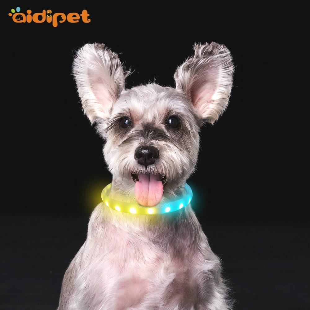 Hot sale RGB Led dog Necklace Collar
