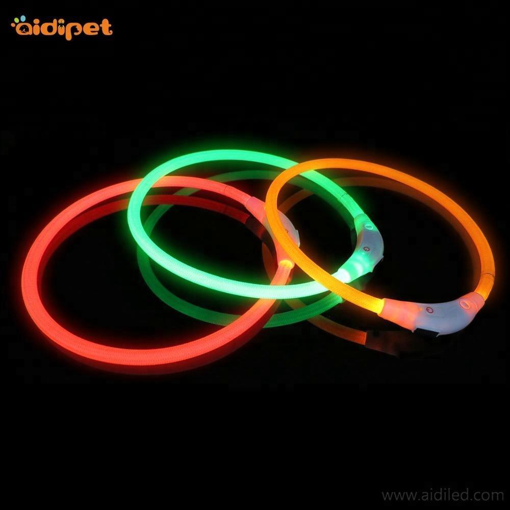 Wholesale Colorful Flashing LED Dog Collar for Training