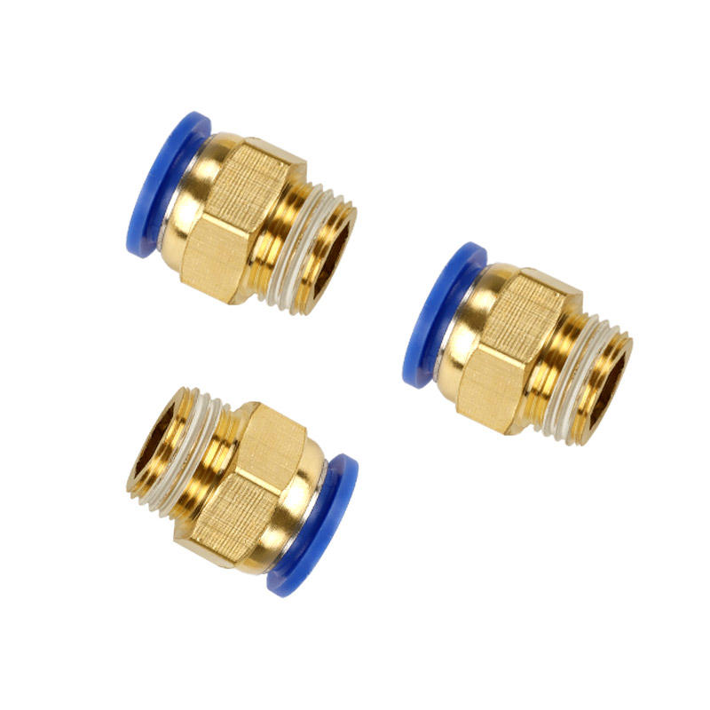 air pressure pipe straight to PC4 / 6/8/10/12/14/16 Pneumatic quick air pipe joint quick insert metal hose high pressure