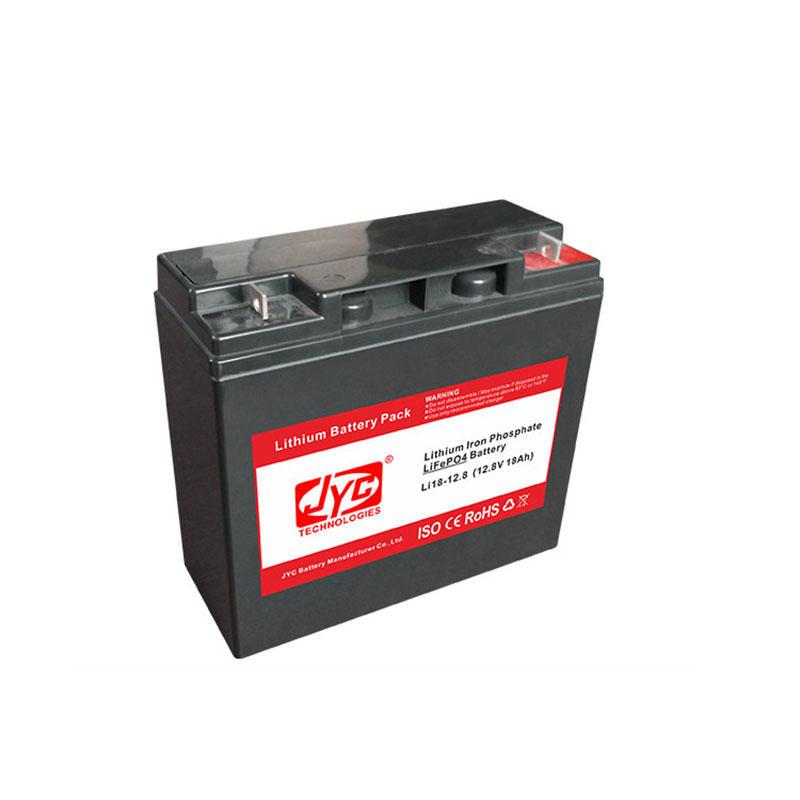 Cycle Life Lithium Ion Lipo Lifepo4 Battery >2000 Cycles @1C 100%DOD 12.8V 18ah 12V JYC Battery