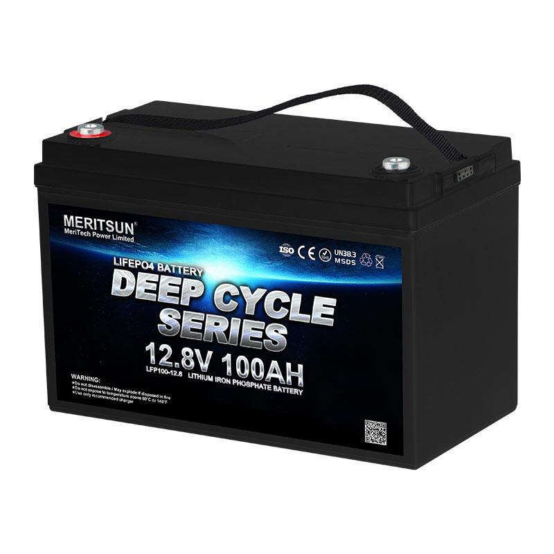 MERITSUN Rechargeable Lifepo4 Lithium Ion Battery 12v 100ah