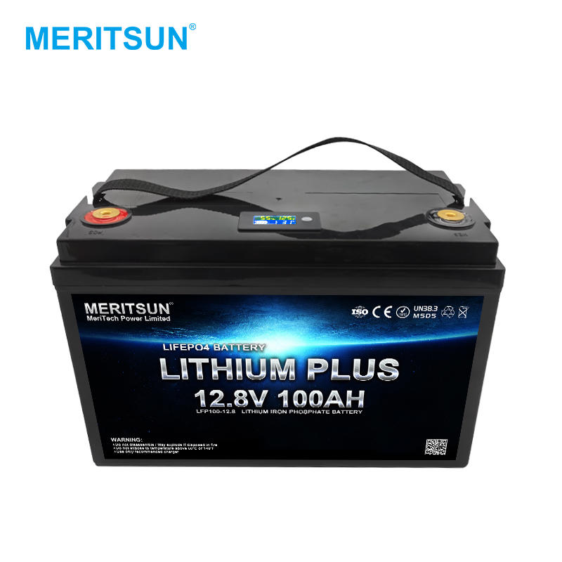 LCD Display Rechargeable lifepo4 12 volt 100ah lithium ion battery for Golfcart/Marine