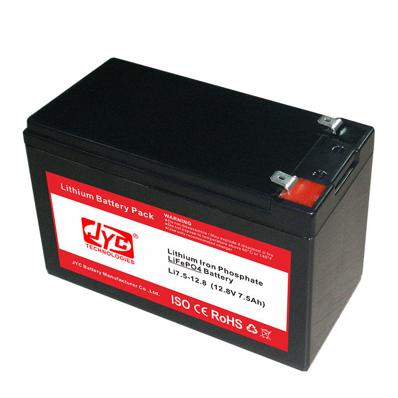 Small Lithium Ion Polymer Lifepo4 Lipo Battery Pack Cycle Life >2000 Cycles @1C 100%DOD 12.8V 7.5ah Li-polymer