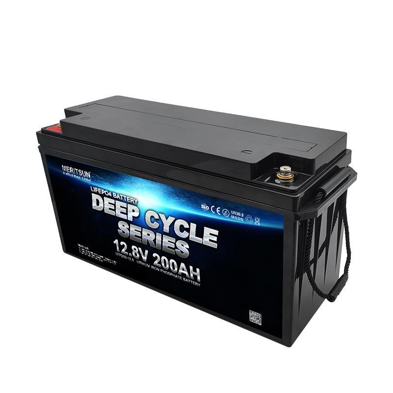 MeritSun Solar RV Marine Lifepo4 Lithium Li-ion Pack 12v 200ah Li Ion Battery