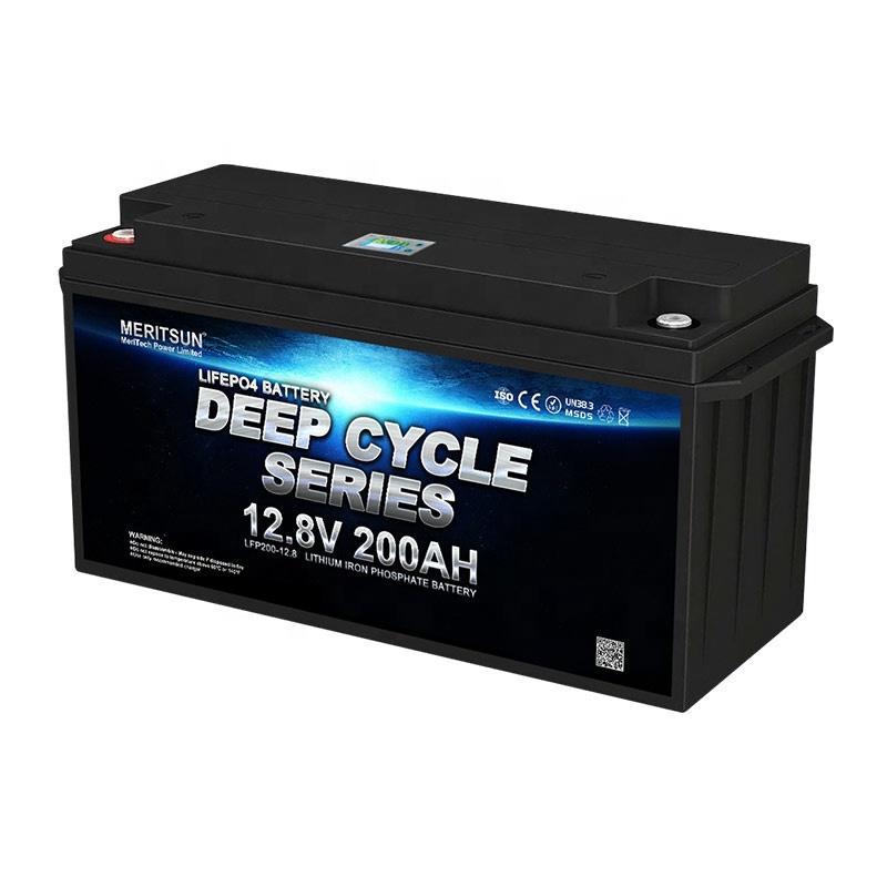 Meritsun Deep Cycle Lithium Storage Battery 12V 200ah 250ah BOATS Golf Carts Solar Energy Storage Systems 3years