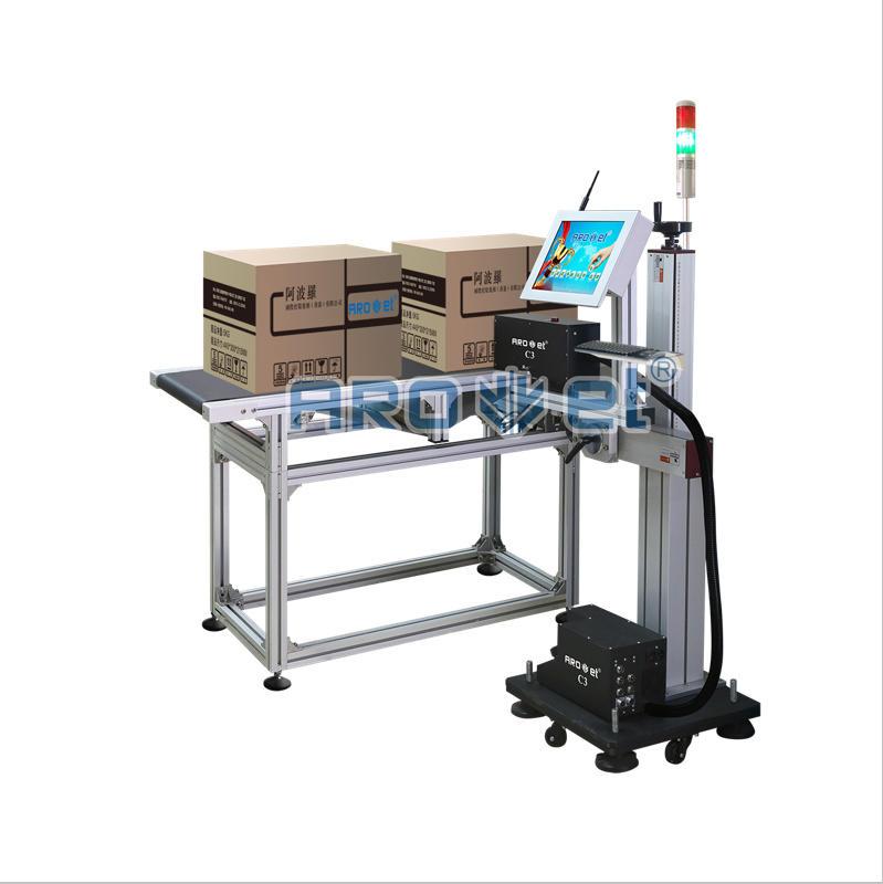 Ink Jet Printer Printing Codes on The PP Packaging Bag