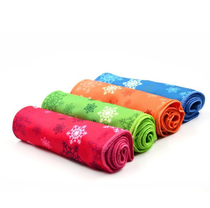 Magic Microfiber Outdoor Sports Ice Printed Cooling Towel
