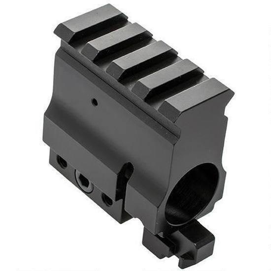 AD Factory Price Aluminum Gas Block with Rail CNC Machined Accessories Part
