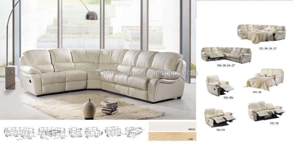 2016 Living room sofas Corner microfiber sofa bed reclining sectional sofa