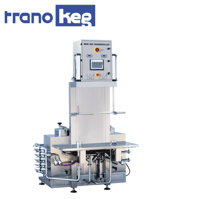 double head automatic keg draft cleaning and filling machine equipment line