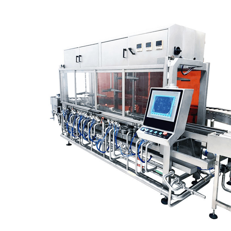 NewAutomatic Stainless Steel Craft Beer Keg Cleaning and Filling Line for Brewery