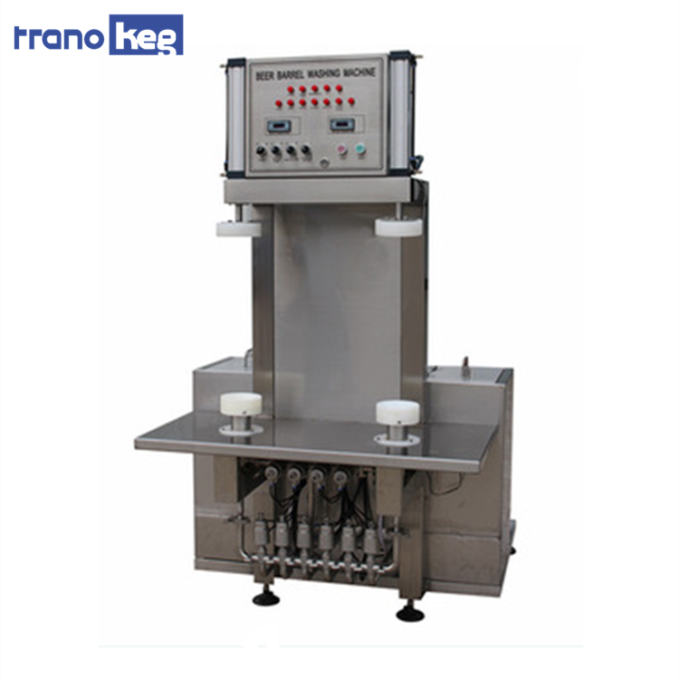 Customized Automatic Double heads Electric heating or Steam heating Beer keg Washer machine for sale