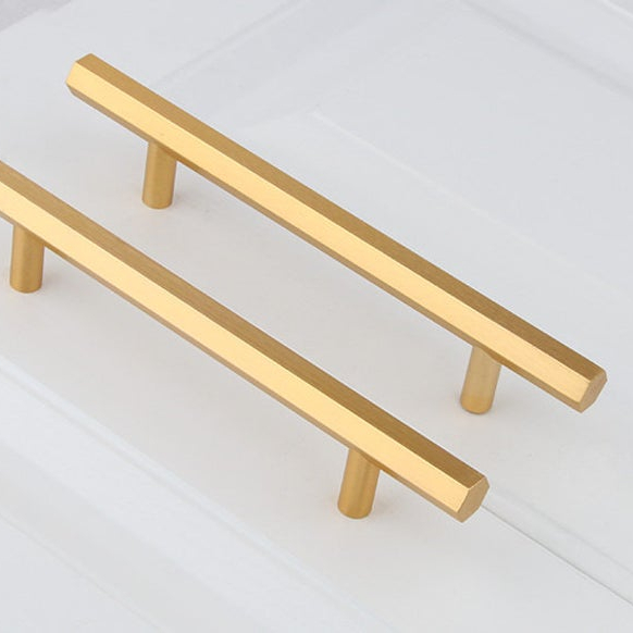 Drawer knobs gold polished brass cabinet pulls