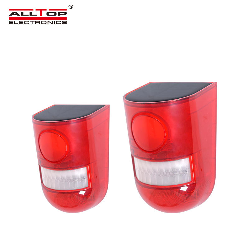 ALLTOP 2020 New Design Outdoor Security Alarm Light 6LED Light Loud Siren Solar Alarm System