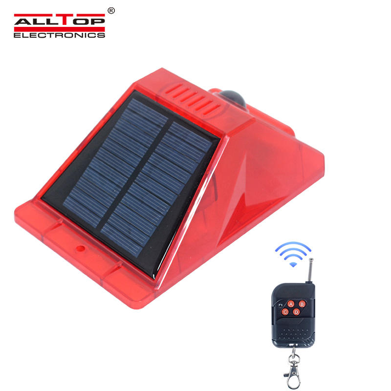 ALLTOP Supplier Hot On Sell Solar Alarm Warning Light With Remote Controlled Home Security Alarm Light
