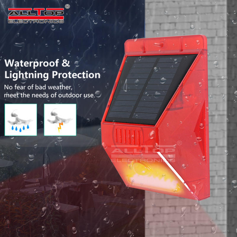 ALLTOP Solar security alarm system with remote control solar motion security light for outdoor use