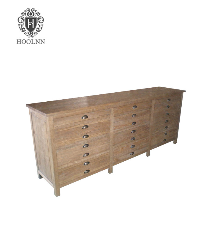 W1551 buffet and hutch hand painted recycled oak sideboard with drawers