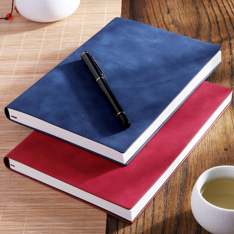 product-Dezheng-Customized 2021 Planner College Pen Friendly A5 Notepad Custom Soft Cover Pu Leather-1