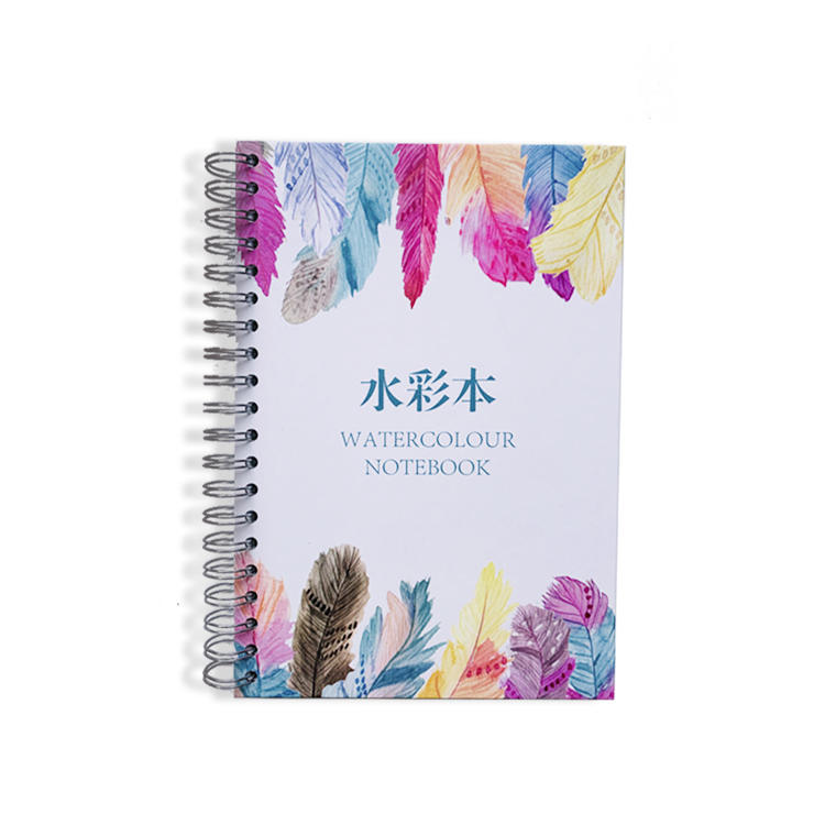 Wholesale Custom Fashion Hardback Hardcover Spiral Blank Black Sketch Book A3 A4 A5 Sketchbook Watercolor Notebook for Drawing