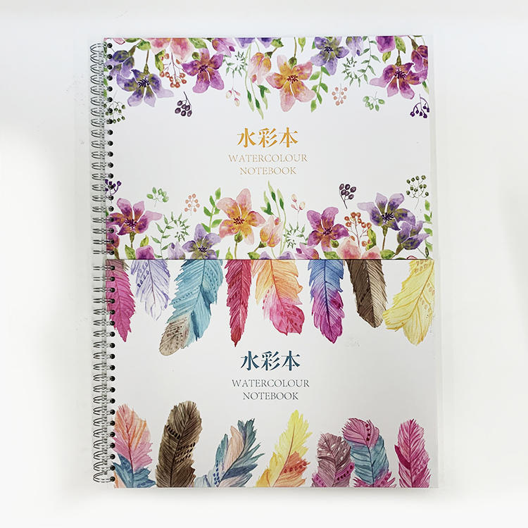 Amazon Personalized Student Children Pocket Sketch Book Diary Kraft Coated Paper Hardbound Square Watercolor Notebook Sketchbook