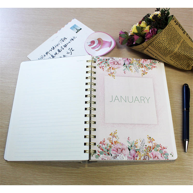 product-Dezheng-Wholesale Custom School Leather A4 Notebook Spiral Kraft Journal Paper Diary Noteboo-1