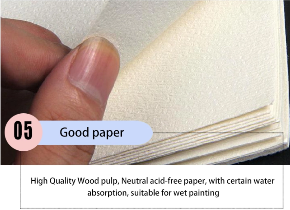 product-Dezheng-Imported watercolor paper 300gsm different sizes spiral bound hardcover watercolor b-1