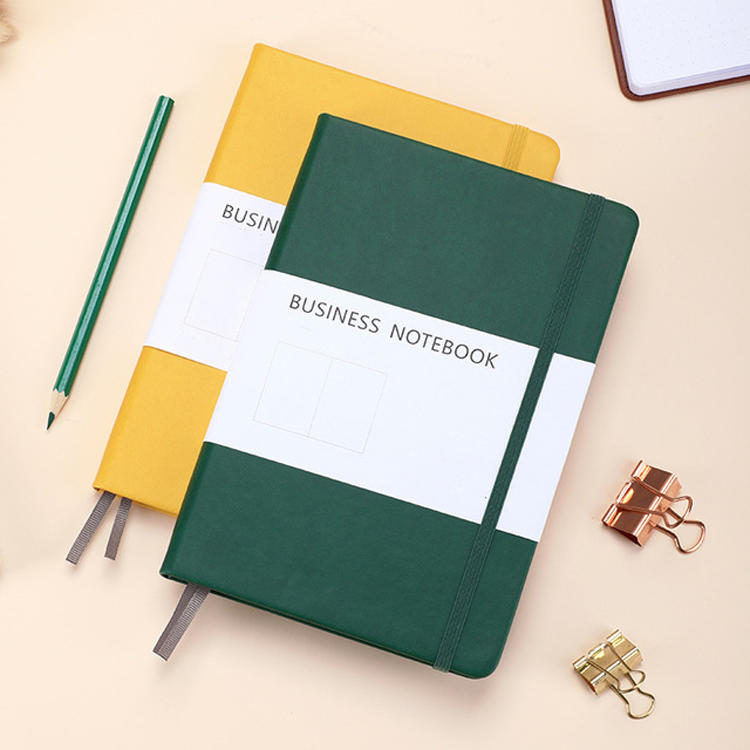product-Dezheng-New Arrival Support Customized Dotted Ruled Planner Inner Pu Leather Hardcover Noteb-1