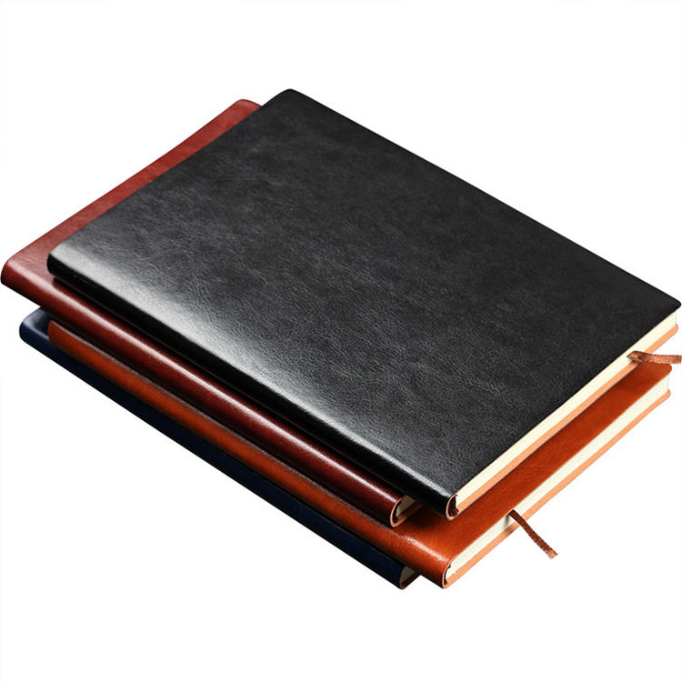 Luxury perfect bound recycled paper notebook sewing binding fitness embossed printing notebook private label notebook