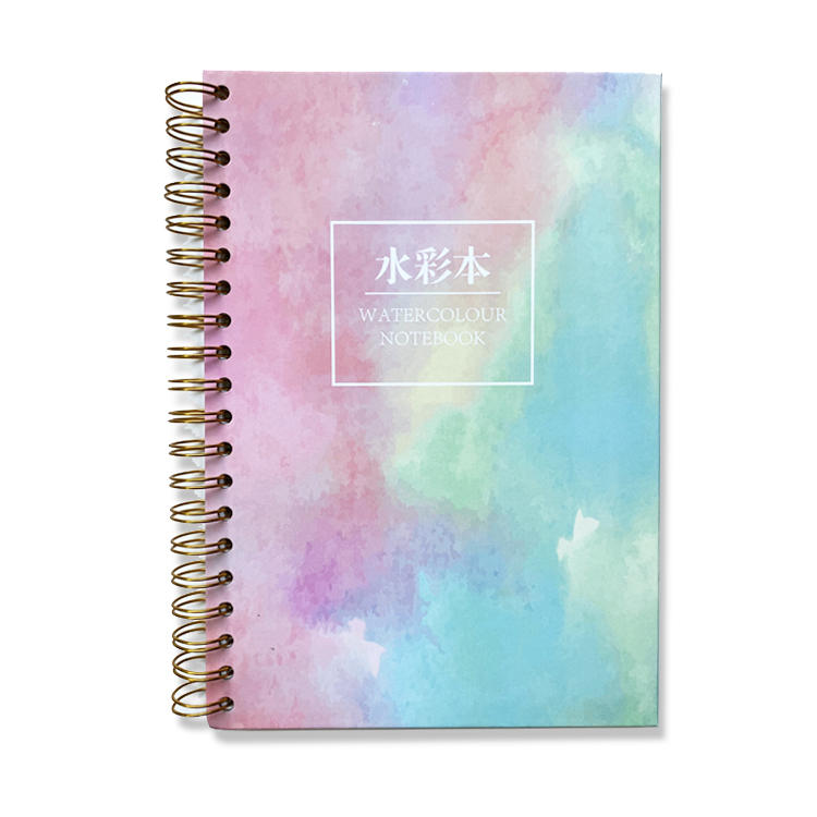 Customised Marble Effect Sketchbook Hot Cold Press Personalized Artist Hardcover Notebook Kawaii Impress Sketchbook for Markers