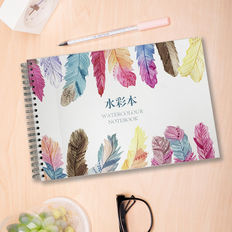 Micro-Perforated Import Notebooks Drawing Side Wire Bound Watercolor Notebook With Paper Pad