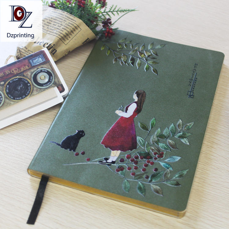 Wholesale Pu Leather Soft Cover Recycled Paper Notebook Manufacturer Notebook with Beige Color Paper Eco Friendly Notebook
