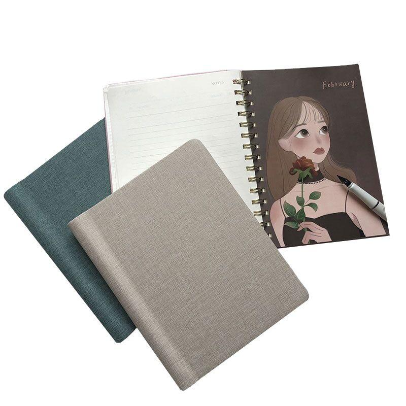product-Wholesale Custom School Leather A4 Notebook Spiral Kraft Journal Paper Diary Notebook A5 Tra-1