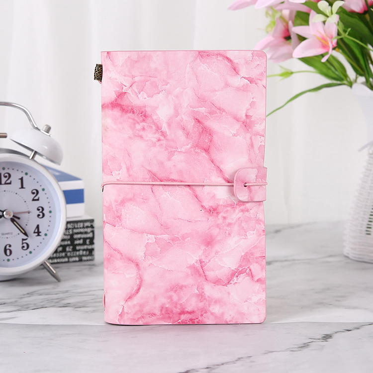 product-Dezheng-Marble pattern personalized refillable soft cover travel journal planner notebook ge-1