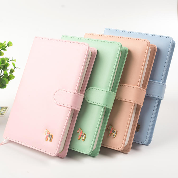 product-Custom Wholesale Hardcover Business Notebooks Colorful A5 A6 Pu Leather TravelerS Planner No-1