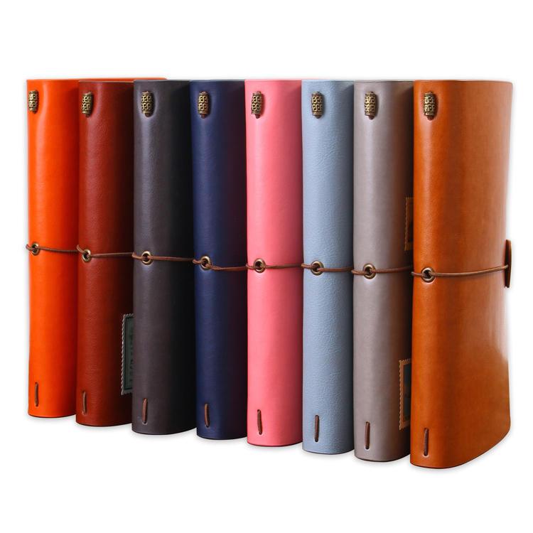 Custom blank trip planner notebook journal gift set travelers notebook refill pu leather printing travel organizer notebook