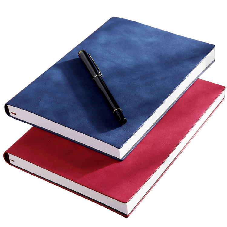 product-Customized 2021 Planner College Pen Friendly A5 Notepad Custom Soft Cover Pu Leather Busines-1