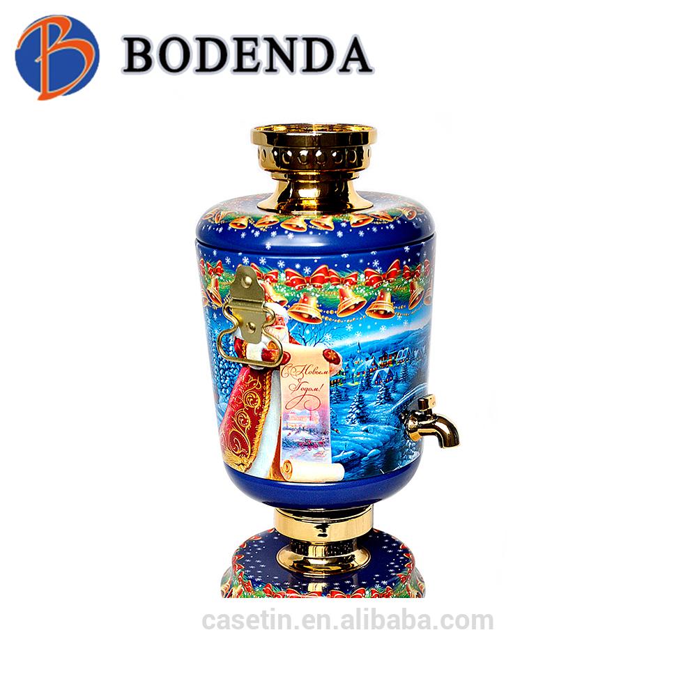 2017 new design empty samovar tin for tea