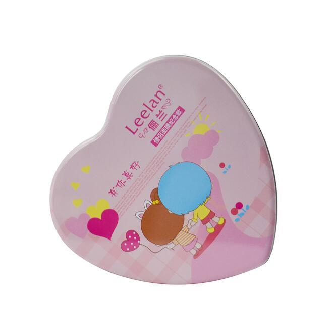 Lovely heart shape jars cosmetic tin box lip gloss boxes packaging