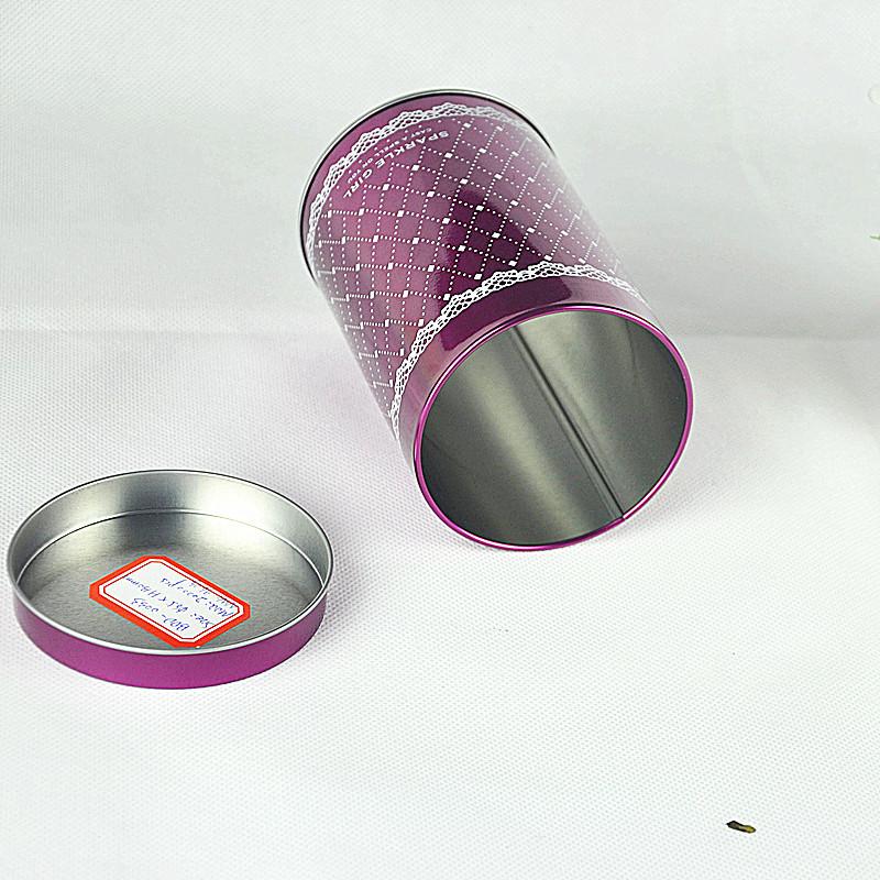 custom round gift tin box