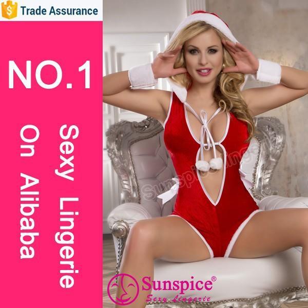 Sunspice hot sale lingerie manufacturer women sexy christmas lingerie
