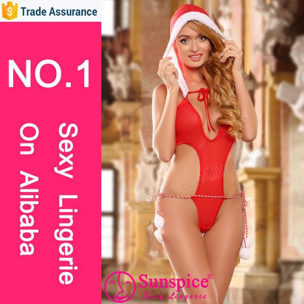 hot sale christmas naughty girl sexy lingerie christmas santarina costume