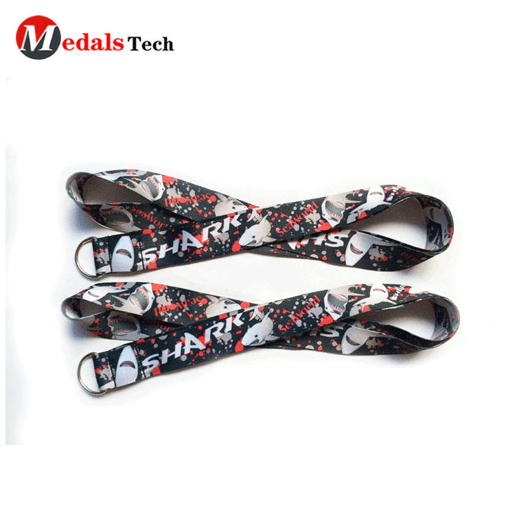 Heat Transfer Sublimation Removable cartoon lanyard for kids