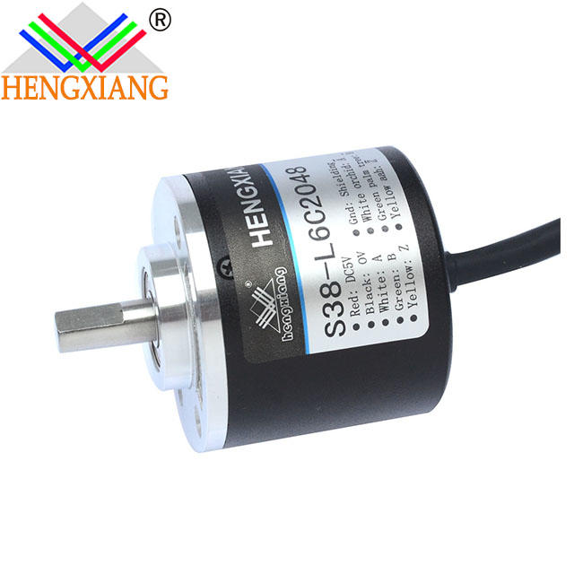 Incremental rotary solid shaft S38-J Series 500 ppr encoder