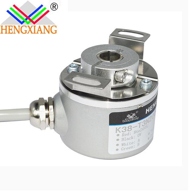 K38-Q3NB8 600ppr hollow shaft blind hole 8mm A+B+Z+ NPN open collector output current position sensor elevator encoder