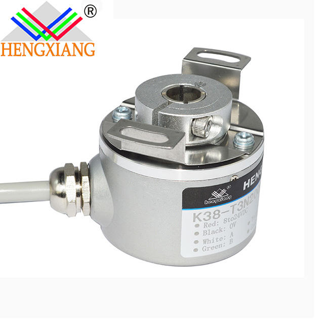 K38-Q3NB8 600ppr hollow shaft blind hole 8mm A+B+Z+ NPN open collector output current position sensor elevator encoder