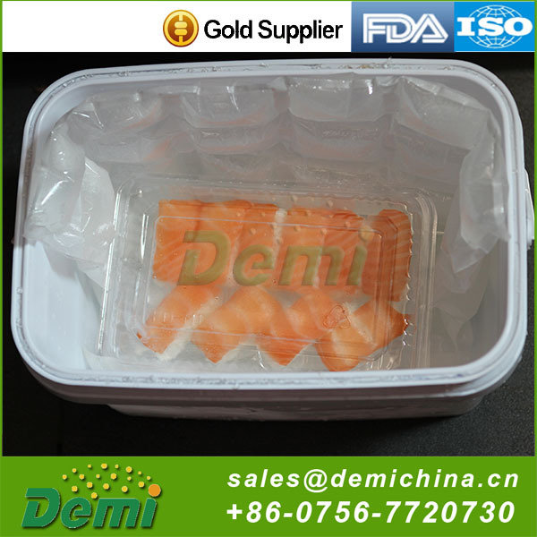 Sell well new type dry ice food grade packs water injection cooling gel cold pack
